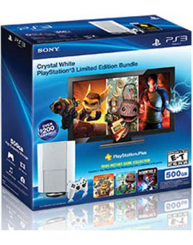 Crystal White PS3 Bundle / Game Collection 500GB