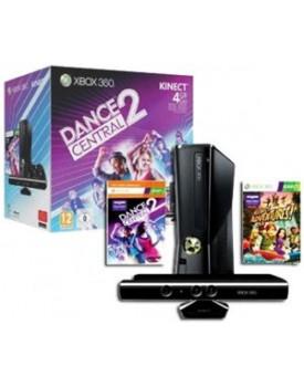 CONSOLA - Xbox 360 / Slim / 4GB / 220V / C.Kinect / Destrabada / + Juego Dance