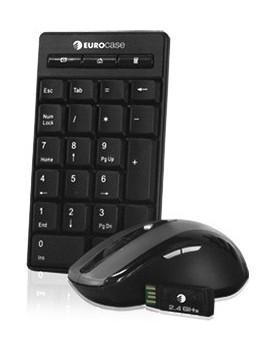 COMBO - Eurocase / Inalámbrico / Teclado Multimedia + Mouse Optico (EUNK-1001W)