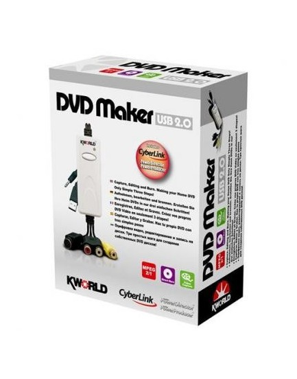 Tarjeta dvd Maker Usb 2.0 Kworld