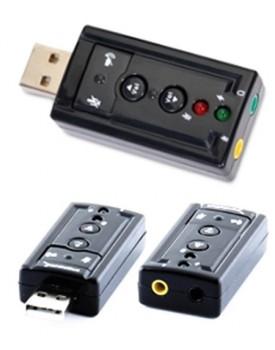 TARJETA DE SONIDO - Sabrent / USB (USB-SBCV)