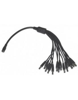 Spliter de cables de poder P.cámaras CCTV / 1 a 16