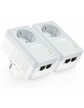 Adaptadores de Red a Corriente TP-LINK TL-PA4020P KIT Pass Through Powerline 500 Mbps Con Enchufe Incorporado