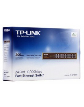 Switch Rackeable TP-LINK TL-SF1024D 24 Puertos 10/100 Carcasa Metálica