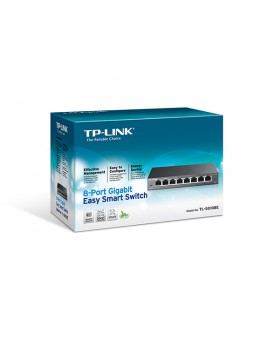 Switch Rackeable TP-LINK TL-SG108E 8 Puertos Gigabit Easy Smart