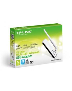 Adaptador USB Wireless 150 Mbps TP-LINK TL-WN722N con Antena Omni de 4 Dbi