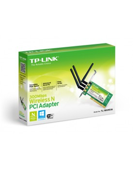 Tarjeta de Red PCI Wireless TP-LINK TL-WN951N N-Draft 300Mbps Triple Antena