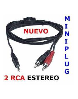 CABLE 3.5 A 2 RCA MACHO