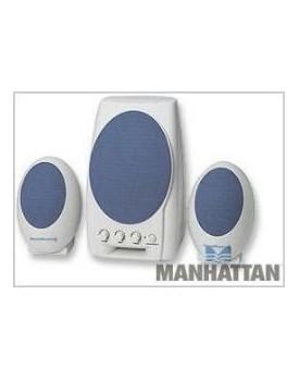 PARLANTES MANHATTAN 3100, 2.1, 220v Blanco