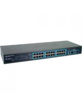 Switch 26-port(24 x 10/100, 2 gigabit Copper/miniGBIC) Smart Switch