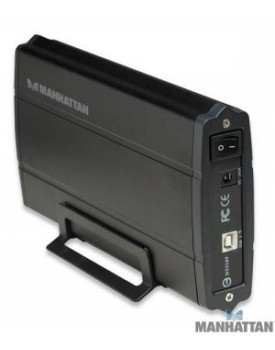 Gabinete 3,5 SATA Puerto USB 2,0/eSATA Negro