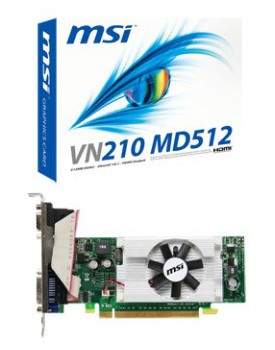TARJETA DE VIDEO - MSI 210 / 512MB DDR2 (VN210MD512)