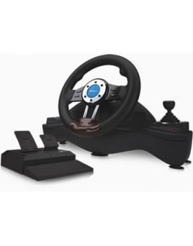 VOLANTE - P/PC / PS2 y PS3 (con pedales de aceleracion y freno) (Eurocase EUGA-95 SILVERSTONE II)