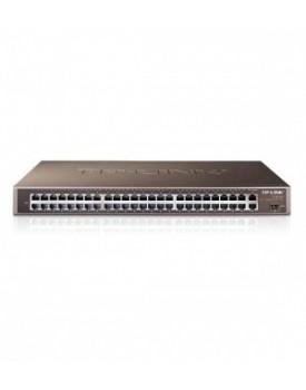 SWICH RACKEABLE - TP-Link TL-SL1351 48 Puertos 10/100 + 2 puertos 10/100/1000 + 1 puerto SFP para Uplink Carcaza Metalic