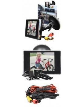 """Monitor en color LCD de 3,5"""" y camara CMOS color cablada 1/4"""" 420 lineas"""