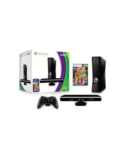 CONSOLA - XBOX 360 4 GB + Kinect + Juego