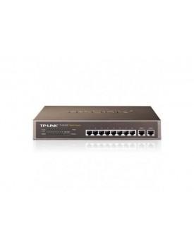 Switch Rackeable TP-Link TL-SL1210 8 Puertos 10/100 + 2 puertos 10/100/1000 para Uplink Carcaza Metalica