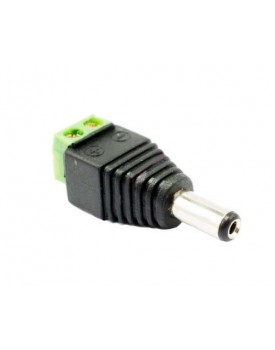 CONECTOR 12V/2.1MM/DC Macho/Para CCTV (SAFESKY)